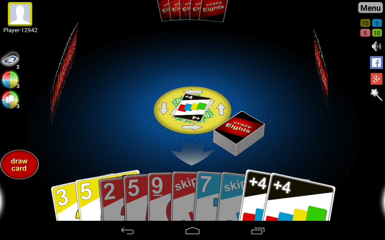Crazy Eights 3D: screenshot