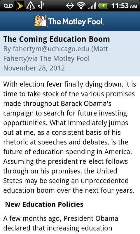 The Motley Fool - screenshot