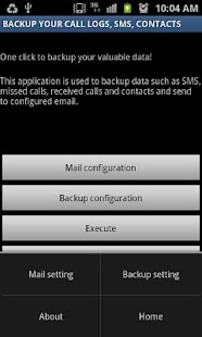 Backup Call logs,SMS & Contact - screenshot thumbnail