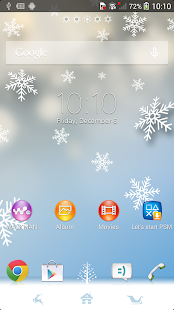 XPERIA™ Winter Snow Theme Screenshot