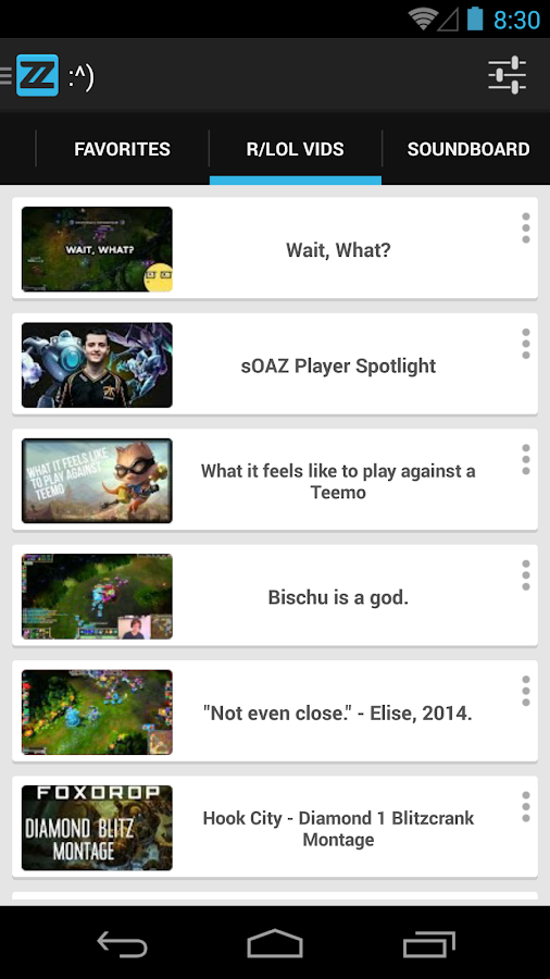 zzReal: VODs League of Legends - screenshot