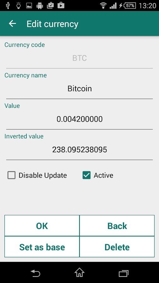 Currency converter plus- screenshot