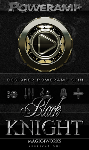Poweramp skin Black Knight
