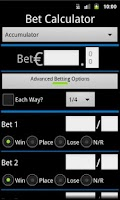 Screenshot of Bet Calculator