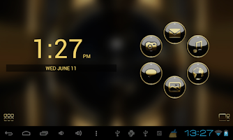 Screenshot of Smart Launcher theme b. gold