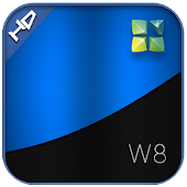 W8 next launcher theme