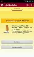 Screenshot of aha!Smokefree