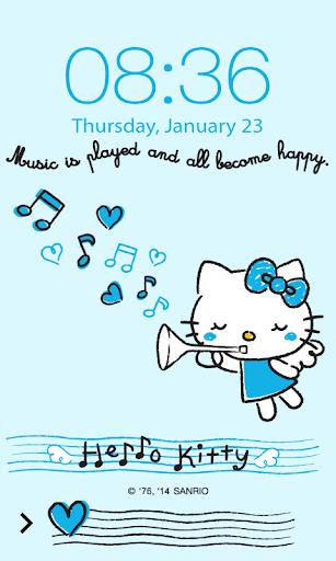 Hello Kitty Music Screen Lock