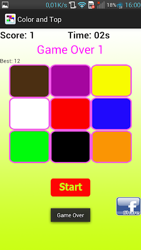 Color and Top - funny game