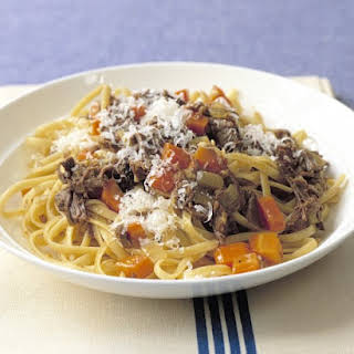 Linguine with Beef and Onions.