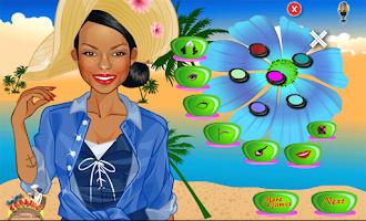 Screenshot of beach games for girls