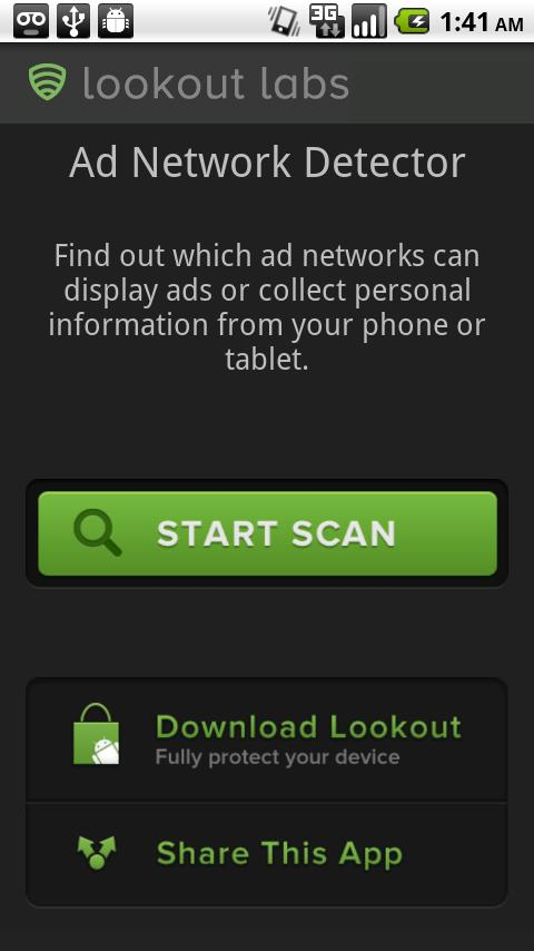 Ad-Network Scanner & Detector - screenshot