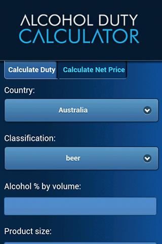 Alcohol Duty Calculator