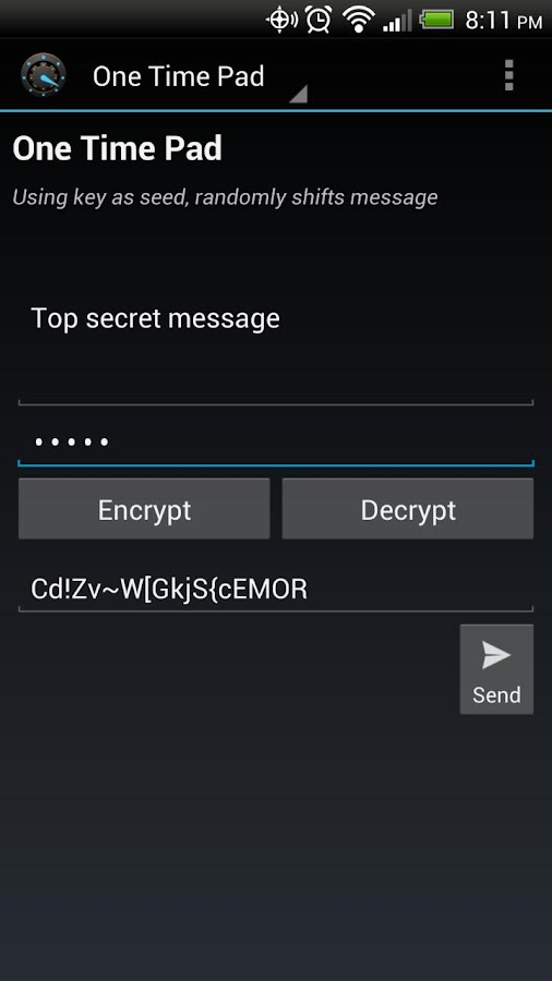 Cipher Machine - screenshot