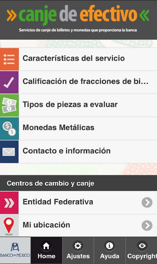 Canje de efectivo- screenshot