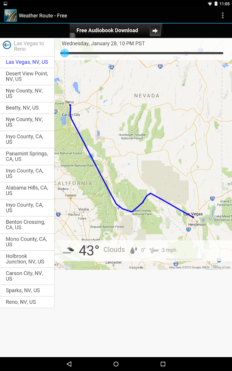 Weather Route Screenshot 7