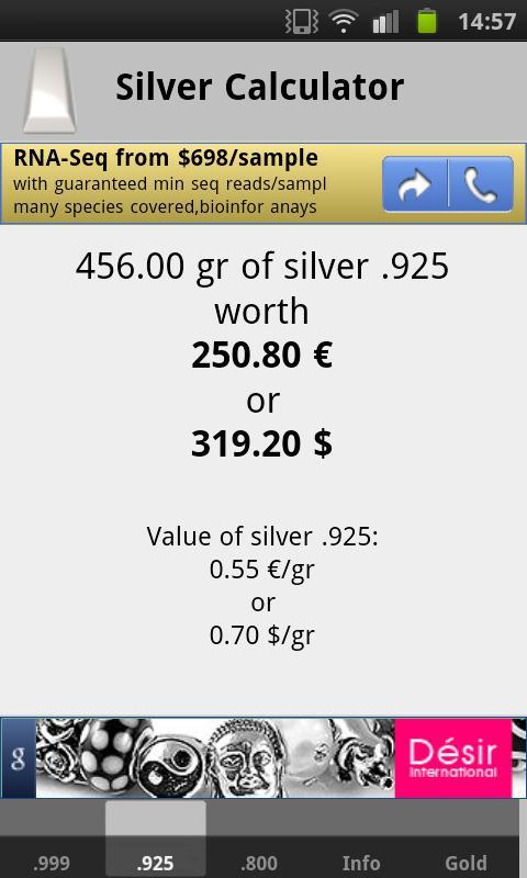 Silver Price Calculator Live- screenshot