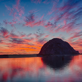 Los Osos Sunset by Tom Reiman - Landscapes Sunsets & Sunrises ( morro bay, colorful, sunset, seascape, los osos,  )