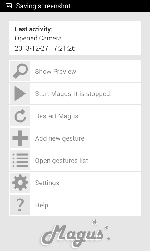 Magus 3D Gesture Launcher- screenshot