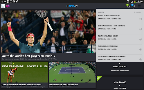 TennisTV:Live Streaming Tennis - screenshot thumbnail