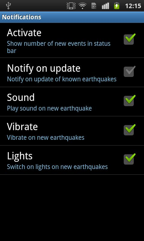EQInfo - Global Earthquakes - screenshot