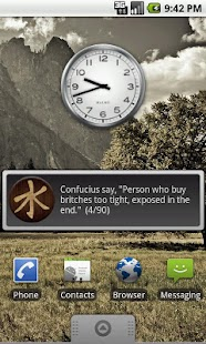 Confucius Say Quote Widget - screenshot thumbnail