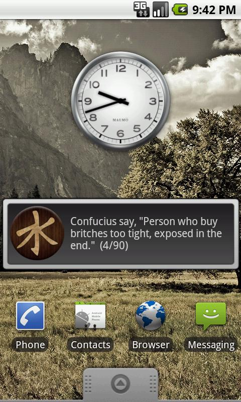 Confucius Say Quote Widget- screenshot