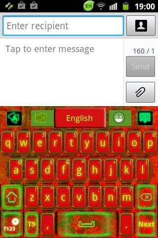GO鍵盤紅色印度主題
