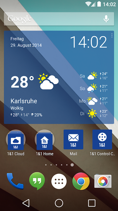 1&1 Wetter Widget- screenshot