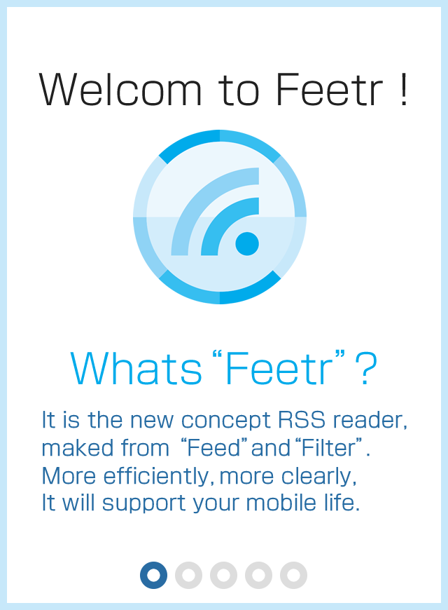 Feetr [Filter/news/RSS Reader]- screenshot