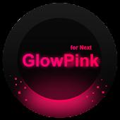 Next Launcher Theme GlowPink