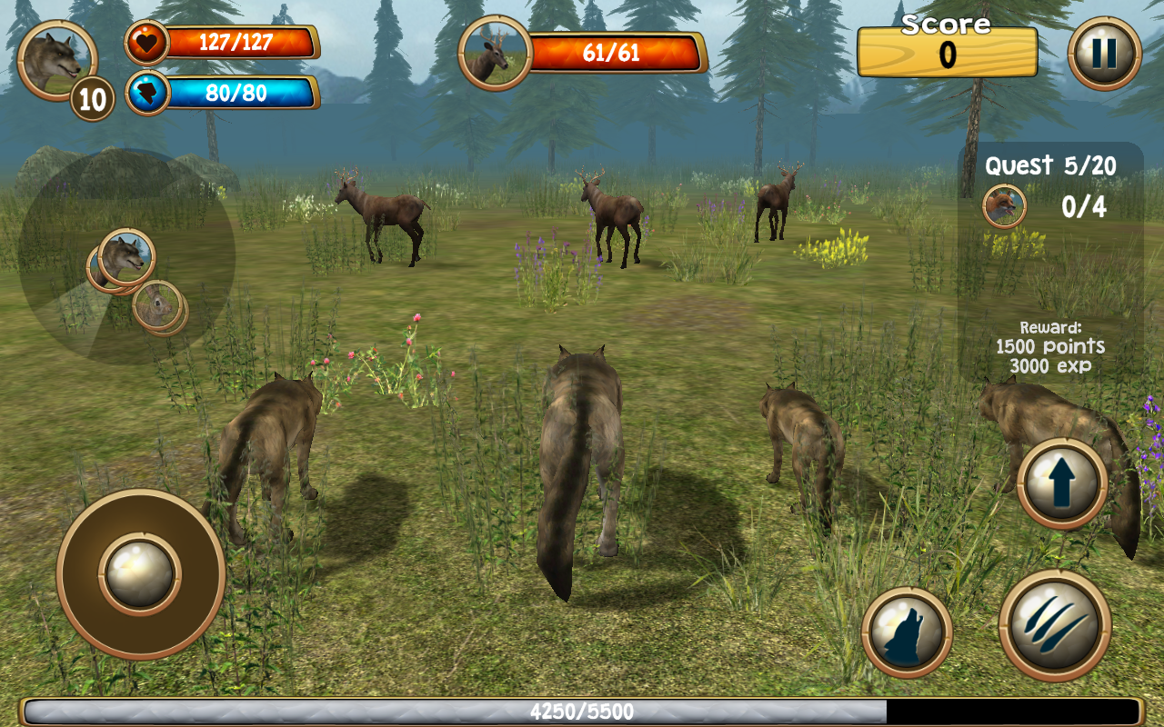 3d app games wolf simulator 3d android apps on play 10010