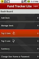 Screenshot of Fund Tracker Lite