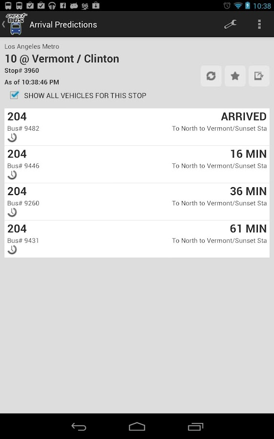 Ultimate NextBus Tracker LITE- screenshot