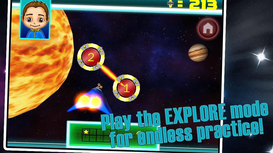 SPACE VOYAGER K,1,2 MATH FREE - screenshot