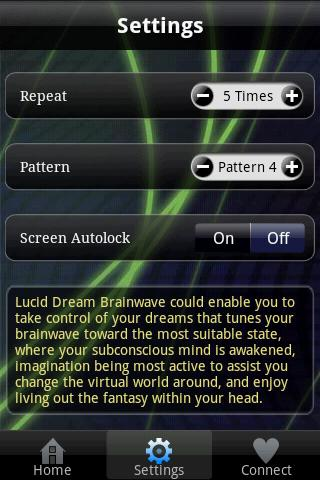 Lucid Dream Brainwave- screenshot