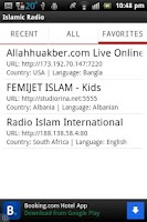 Screenshot of Islamic Radio