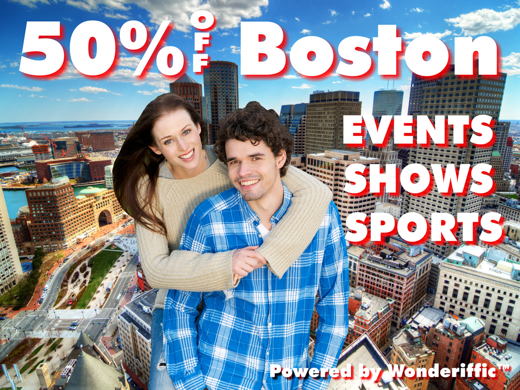 50% Off Boston Events - screenshot