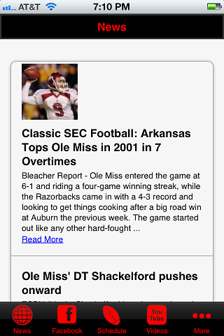 Football News - Ole Miss Edition- screenshot