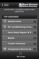 Screenshot of Rural Kansas Online Directory