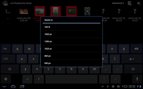 cr2-Thumbnailer Demo- screenshot thumbnail