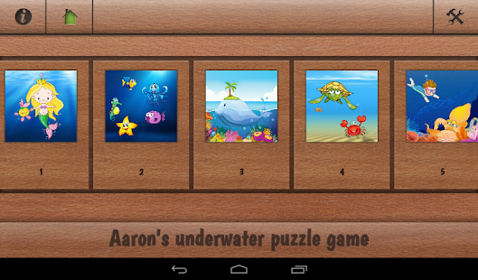 Aaron's kids underwater puzzle- screenshot thumbnail