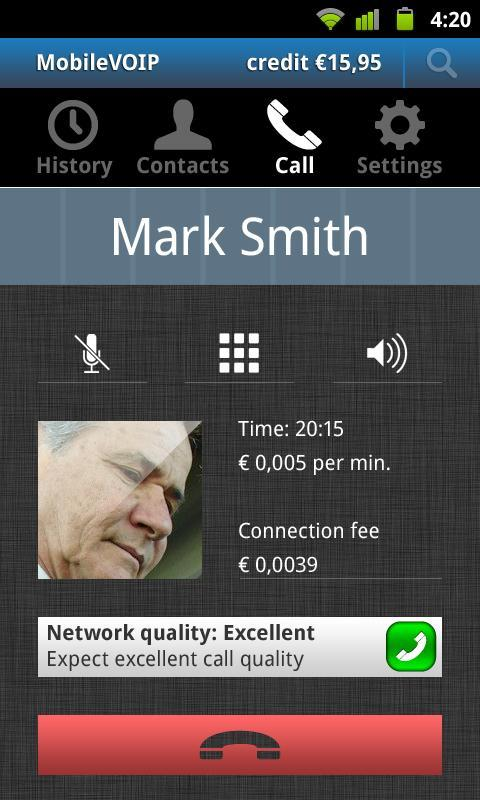 JustVoip voip calls - screenshot