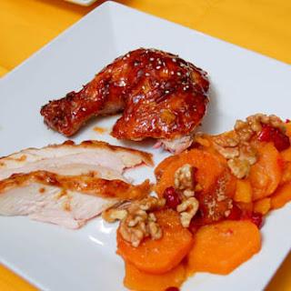 Chicken w/ Asian BBQ Sauce.