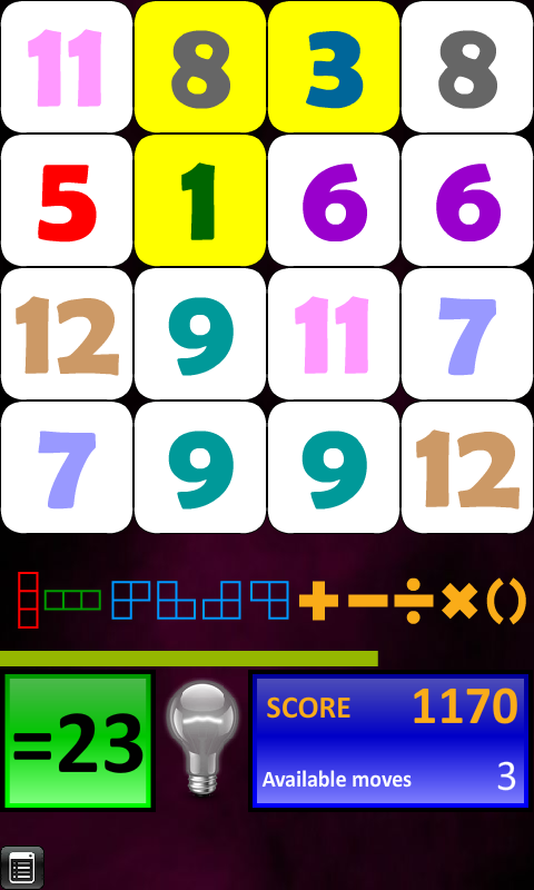 Arithmetics Puzzle - screenshot