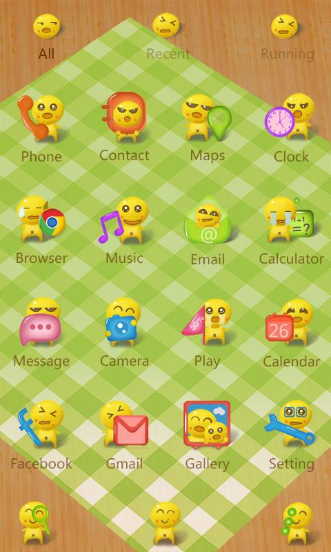 Dumpling guy GO Launcher Theme- screenshot