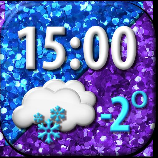 Glitter Weather Clock Widget