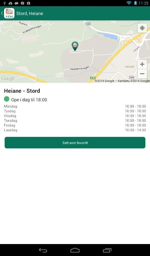 SIM Tømmekalender- screenshot