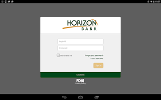 Screenshot of Horizon Bank Mobile Banking