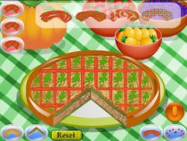 Screenshot of Pizza Decorating Cooking